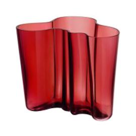 Aalto vaas 160 mm cranberry rood