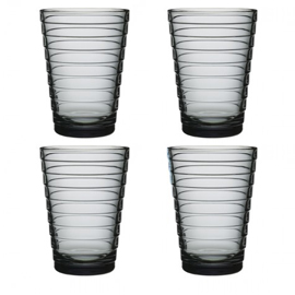 Aino Aalto set 4 glazen 113 mm grijs