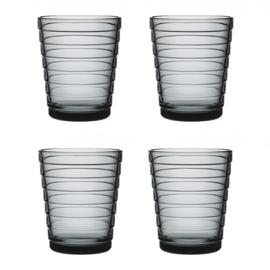 Aino Aalto set 4 glazen 90 mm grijs