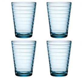 Aino Aalto set 4 glazen 113 mm lichtblauw