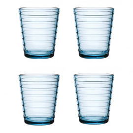 Aino Aalto set 4 glazen 90 mm lichtblauw