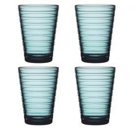 Aino Aalto set 4 glazen 113 mm zeeblauw