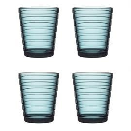 Aino Aalto set 4 glazen 90 mm zeeblauw
