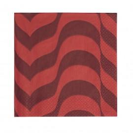 Servetten 33x33cm rood/donkerrood