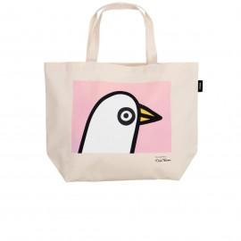 "Oiva Toikka collection ""Birdie pink"" canvas tas 50x38cm"