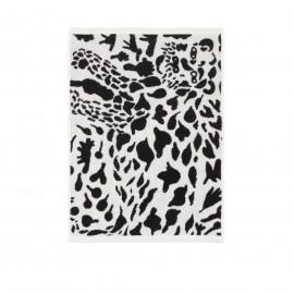 "Oiva Toikka collection ""Cheetah black-white"" handdoek 50x70cm"
