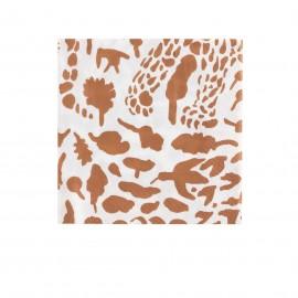 "Oiva Toikka collection ""Cheetah brown"" servetten 33x33cm"