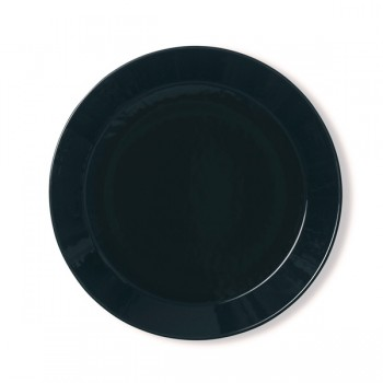 Teema zwart plat bord 21 cm