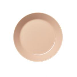 Teema poeder roze plat bord 17 cm