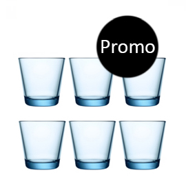 Kartio lichtblauw glas 21 cl 6 halen 4 betalen