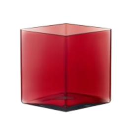 Ruutu vaas 205x180 mm cranberry