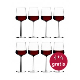 Essence rood wijnglas, 8 stuks