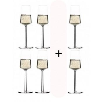 Essence champagneglas actie 4 + 2 gratis