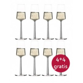Essence champagne glas, 8 stuks
