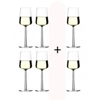 Essence wit wijnglas actie 4 + 2 gratis