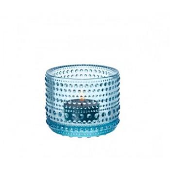 Kastehelmi windlicht lichtblauw 64mm (Uit collectie!!!)