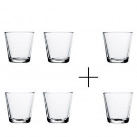 Kartio helder glas 21 cl  4+2 actie