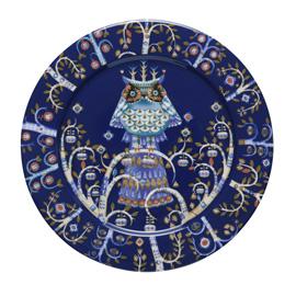 Taika blauw bord 27 cm