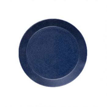 Teema dotted blue plat bord 17 cm    (Gaat uit collectie!)