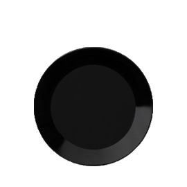 Teema zwart plat bord 17 cm