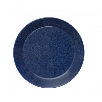 Teema dotted blue plat bord 21 cm     (Gaat uit collectie!)
