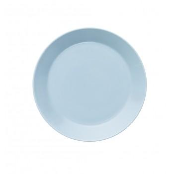 Teema lichtblauw plat bord 21 cm
