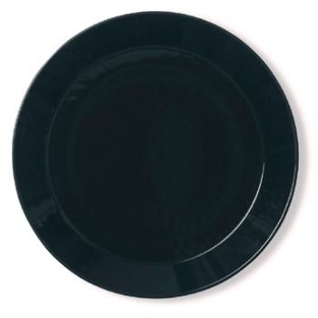 Teema zwart plat bord 26 cm