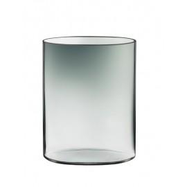 Ovalis vaas 250 mm grijs/helder