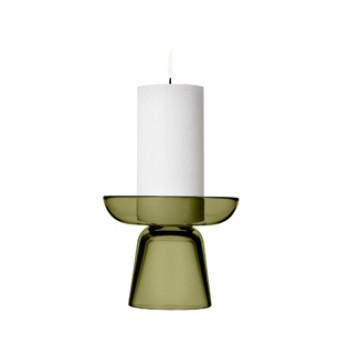 Nappula kaarsenstandaard mossgreen glas