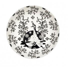 Taika zwart schaal/diep bord 22 cm